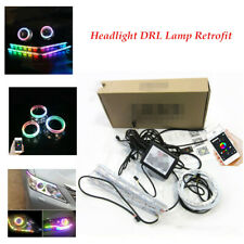 DC12V LED Car Angel Eye racing lamp RGB Telescopic Lamp Refit Decoration Strips