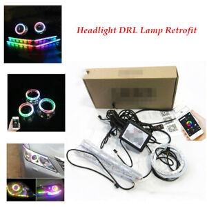 DC12V LED Car Angel Eye racing lamp RGB Telescopic Lamp Refit Decoration Strips