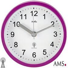AMS 41 OROLOGIO PARETE/Orologio da tavolo Radio lilla,IMPERMEABILE bagno bagno,ø