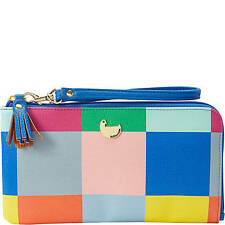 Buxton Color Block Squares Expandable Wallet with Removable Strap ,Ladies Wallet