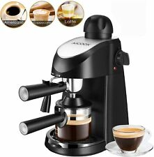Cappuccino Espresso Machine Coffee Maker 3.5 Bar 4 Cup With Milk Frother Carafe