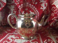ancienne petite cafetiere theiere metal argenté travail anglais poincons EPBM