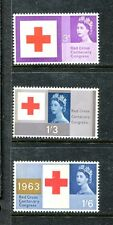 Great Britain 398p-400p phophor, MNH, Red Cross centenary, 1963  x18426
