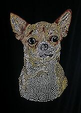 Chihuahua DOG  rhinestone  Iron on Transfer Hot Fix chiwawa  NO SHIRT