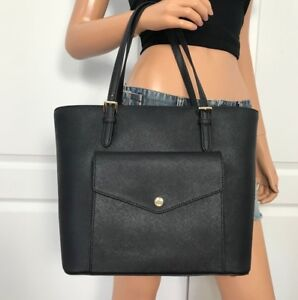 NWT Michael Kors Black Item Large Saffiano Leather Tote Bag Purse Handbag New