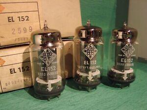 """EL152 Telefunken """"OO"""" getter NOS, NIB 3 x Audio power tube! ( EL156, EL34, Gu50)"""