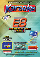 Chartbuster Essential 450 Karaoke Songs Vol 8 SD Card or USB CDG Music 4 PLAYER
