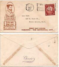 CANADA New Brunswick Centennial (#210) 1935 First Day Cover   *RARE*