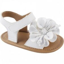 NWT Baby Deer White Flower Sandal Booties Crib Shoes Girls 3 - 6 M Sz 2 Sandals