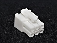 ATX PCIe Connector 6 Pin Stecker inkl. 6 Terminals Pins - weiß