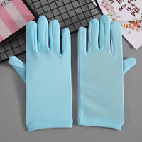 New Women Spring Short Labour Wrist Gloves Elastic Spandex Driving Outdoor Party