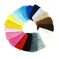 "1.5""  Crochet Headband Baby Girls Toddler  Wholesale Lots of 24 pcs"