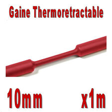 Gaine Thermo Rétractable 2:1 - Diam. 10 mm - Rouge - 1m