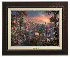 Thomas Kinkade - Lady and the Tramp – Canvas Classic (Espresso Frame)