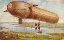 motor driven war airship - oilette airships number 9495. 1915