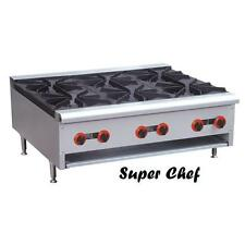 New Gas Counter Top Hot Plate 6 Burner LP and Natural Gas