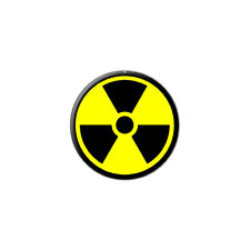 Radioactive Nuclear Warning Symbol - Metal Lapel Hat Pin Tie Tack Pinback