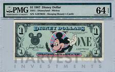 1987 DISNEY DOLLAR - FIRST DAY ISSUE FIRST YEAR ISSUE - PMG 64 EPQ - CHOICE UNC