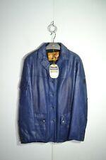 NEW Belstaff Black Prince 42 size Leather Women's Jacket Crocodile Embossing