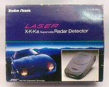RADIO SHACK LASER X-K-Ka SUPERWIDE RADAR DETECTOR 22-1656 NOSTALGIC RETRO CAR