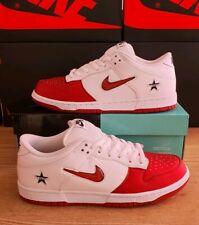 Nike SB Dunk Low Supreme Jewel Swoosh Red UK 9.5 US 10.5 EU 44.5 CK3480 600
