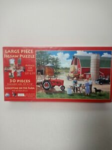 Lunchtime on The Farm 30 Piece Jigsaw Puzzle by SunsOut