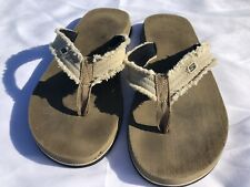 Mens Skechers Tan/Brown Thong Flip Flop Sandal Size 11