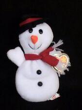 Ty Snowball the Snowman Beanie Baby 1996 Soft Plush Stuffed Animal