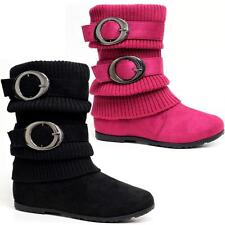 Girls Zip Up Casual School Ankle Party Biker Winter Back To School Boots Shoes