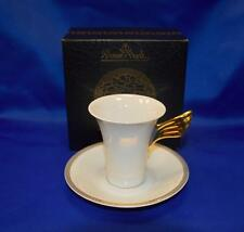 Rosenthal Classic Versace Ikarus Medusa Meandre D'Or Coffee Cup & Saucer White