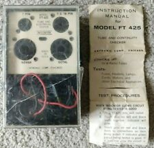 Vintage 1960s Antronic Corp Model Ft 425 Vacuum Tube Amp Continuity Checker
