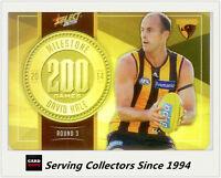 2015 AFL Champions Milestone Holofoil Card MG41 David Hale (Hawthorn)