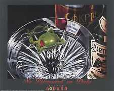 "Michael Godard ""NO LIFEGUARD ON DUTY"" Martini-Olive-Swimming-Las Vegas-Poster"