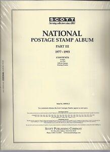 Scott National US Page Set Part III 1977-1993 100NTL3