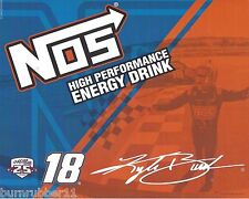 "2016 KYLE BUSCH ""NOS ENERGY DRINK"" #18 NASCAR XFINITY SERIES B/B POSTCARD"