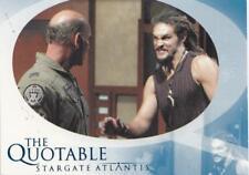 Stargate Atlantis Season 2 The Quotable chase card Q33