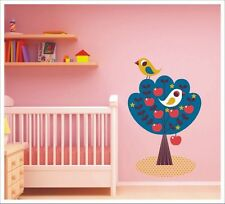 Kids Removable Vinyl Wall Stickers Nursery Decor - Birds in Apple Tree SA-12-045