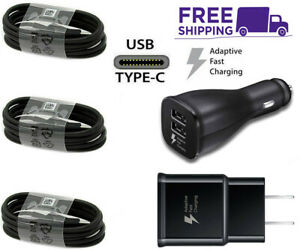 For OEM Samsung Galaxy S8 S9 S10 Plus Note8 9 Fast Car Wall/Charger/Type-C Cable