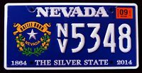 "NEVADA "" BATTLE BORN - 150 YEARS - SILVER STATE "" NV Graphic License Plate"