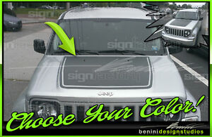 Arctic Style Hood Stripe Decal - Fits Jeep Liberty 2008 2009 2010 2011 2012 2013