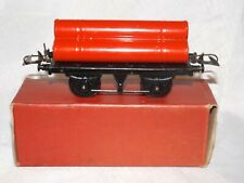 VINTAGE HORNBY TRAINS GAUGE O GAS CYLINDER WAGON R161-MECCANO LTD 1950's-BOXED