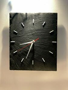 Clock Contemporary SLATE Non ticking Sweeping Hands