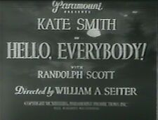 HELLO EVERYBODY!  1933 (DVD) KATE SMITH, RANDOLPH SCOTT