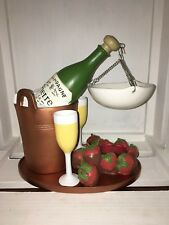 Yankee Candle Wine Champagne & Strawberries Bottle Party Hanging Wax Tart Burner