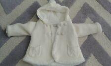 Mayoral White Faux Fur Baby Girl Jacket Coat 4-6 Months Spain Zara