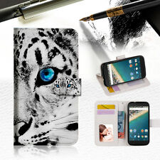 Leopard Wallet Case Cover For Optus X Sleek -- A013