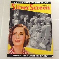 1938 Silver Screen Garbo Stewart Lamarr Dietrich Shearer Bennett  Fashion Gossip