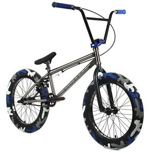 "Elite 20"" BMX Destro Combat Bicycle Freestyle Bike 3 Piece Crank Raw Camo NEW"