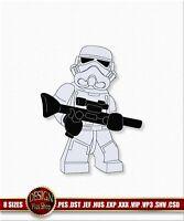 Stormtrooper Stickerei Design. Digitalisierte Maschinen stickdateien PES, DST