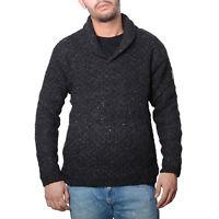 Jersey de punto Hombre Sudadera de lana con cuello esmoquin forro polar